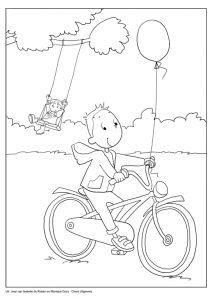 kleurplaat-joep-fiets