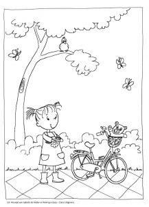 Kleurplaat-Pleuntje-fiets